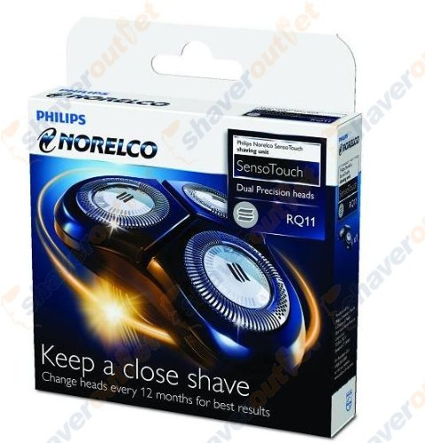 Philips Norelco Rq11 Replacement Heads For Sensotouch 2D Electric Shaver, Silver