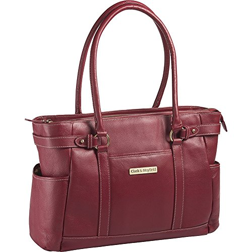 clark-mayfield-hawthorne-leather-173-laptop-handbag-computer-tote-bag-in-red