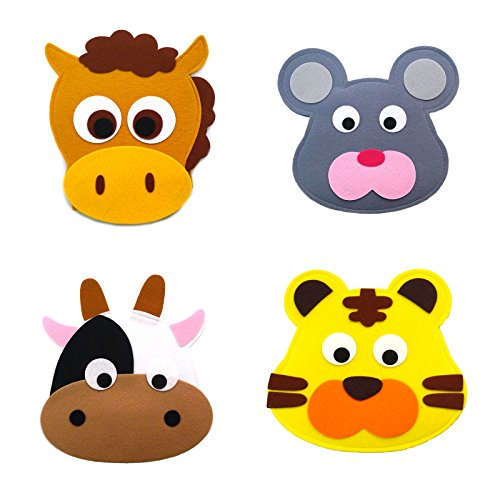 Animal Headband masks horse+mouse+cow+tiger