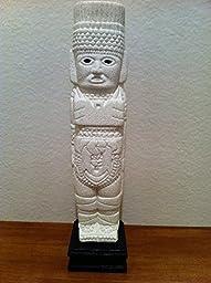 Handmade Aztec Toltec Atlantean Warrior Modern Art Statue