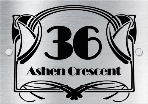Art Deco Style house sign