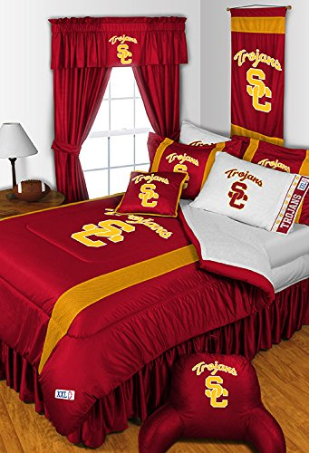 Popular UNIVERSITY SOUTHERN CALIFORNIA USC TROJANS KING Size Pc Bedding Set Comforter Sheet Set