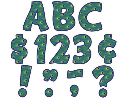 Teacher Created Resources Peacock Funtastuc 4-Inch Letters Combo Pack - 1