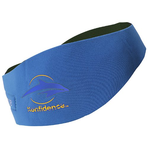 Konfidence Aquaband Ear Protection, Blue