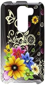 HR Wireless Design Cover Case for LG G2 Mini LS885 - Retail Packaging - Chromatic Flower