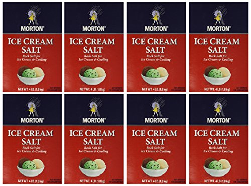 Morton Ice Cream/Rock Salt, 4-Pound (Pack of 8) (Ice Cream Rock Salt compare prices)