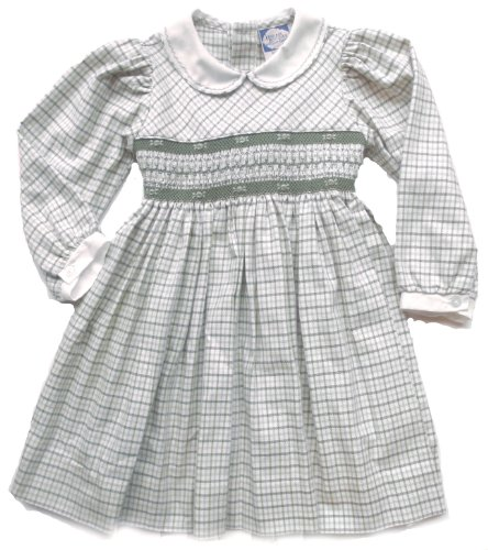 Smocked Green Plaid Long Sleeve Dress (12 Month) front-970386