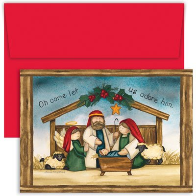 Adore Him Boxed Christmas Cards & Envelopes -