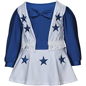 Dallas Cowboys Toddler Cheer Uniform Royal/White 3T
