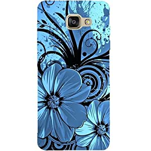 Casotec Cute Floral Blue Patterns & Ethnic Design Hard Back Case Cover for Samsung Galaxy A5 (2016)