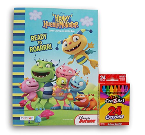 Henry HuggleMonster ''Ready to Roarrr!'' Jumbo Coloring and Activity Book with Cra-Z-Art Crayons (Recipes Cra compare prices)