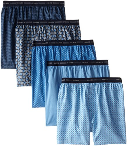 Hanes Men's Red Label Comfort Flex Woven Boxers 832BX5, Asso