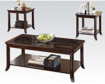Keenan Walnut Coffee Table Set by Acme Furniture