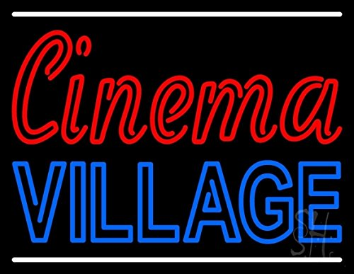 the-sign-store-n105-11526-clear-cinema-village-with-line-clear-backing-neon-sign44-24-x-1-x-31-in