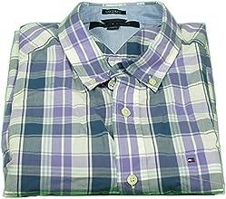 Tommy Hilfiger Teen Boy Custom Fit Button Down Shirt Blue amp Purple Plaid