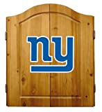 NFL New York Giants Solid Pine Cabinet And Bristle Dartboard Set