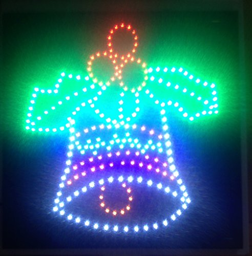 Christmas Bells Bright Led Sign