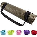 Fit Spirit® Adjustable Cotton Yoga Mat Carrying Strap - Choose Your Color