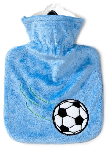 Reer Junior 4017 Hot Water Bottle 0.6 L with Cover Football Design