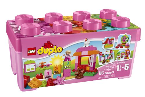 LEGO DUPLO Creative Play 10571 All-in-One-Pink-Box-of-Fun (Wooden Building Fun Set compare prices)