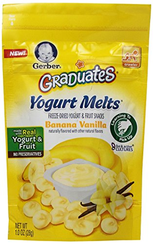 Gerber Graduates Yogurt Melts, Banana Vanilla, 1 Ounce