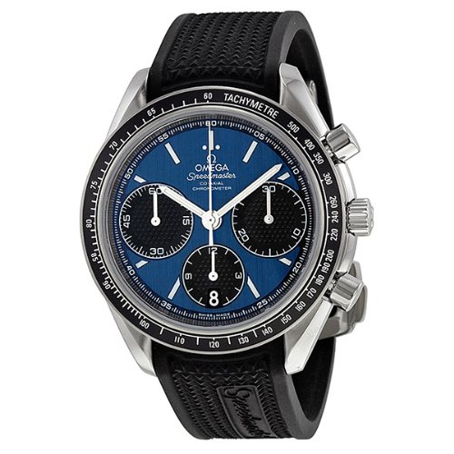 Omega Speedmaster Racing Automatic Chronograph Blue Dial Stainless Steel Mens Watch 32632405003001 (Omega Automatic Speedmaster compare prices)