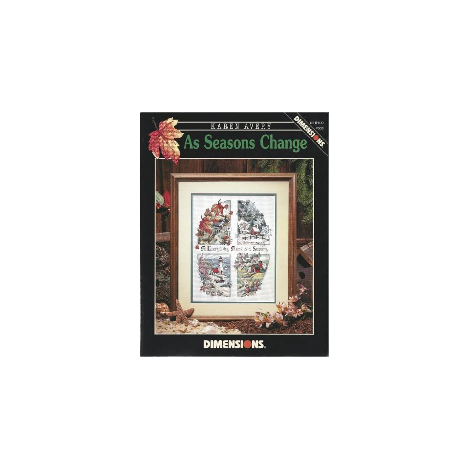 As Seasons Change   Counted Cross Stitch Pattern   Dimensions #303