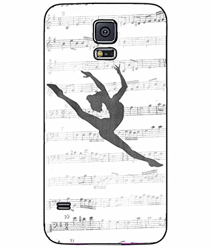 Dancer on Music Notes Plastic Phone Case Back Cover Samsung Galaxy S5 I9600