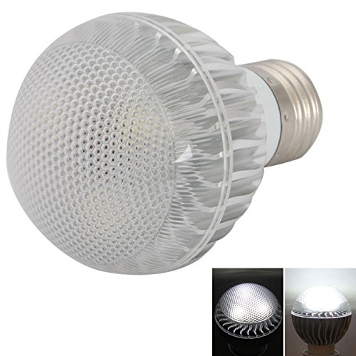 Ball Bulbs - E27 3W 400 Lumen 6000-7000K White Ball Bulb Light Silver (85-265V)