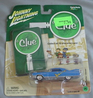 Johnny Lightning 1:64 Clue 1959 Cadillac Eldorado BLUE Mrs Peacock