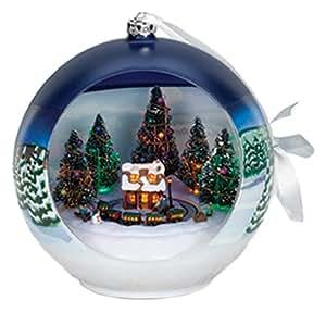 Amazon.com - Gold Label Christmas Vignette Ornament, Train