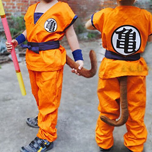 HOLRAN Dragon Ball Z Son GOKU cosplay Kids Adult uniform Large (Goku Costume Adult)