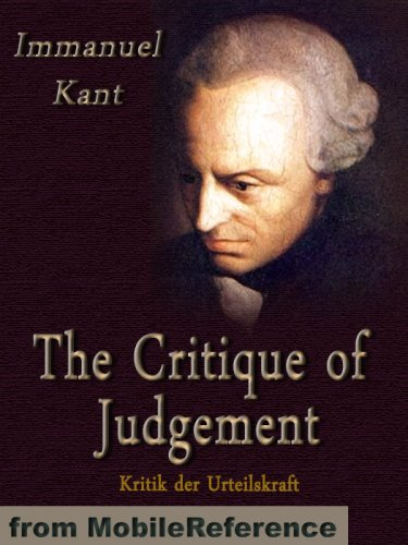 extracts from kant's critique of judgment Immanuel kant critique of judgment first part critique of aesthetic judgement section i analytic of aesthetic judgement book ii analytic of the sublime.
