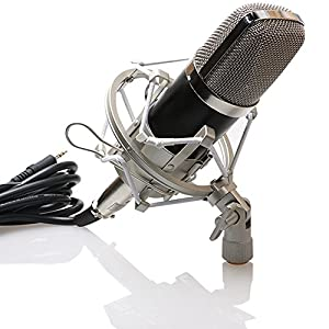 VIMVIP® Professional XLR Condenser Sound Podcast Studio Broadcating and Recording Microphone with Mic Shock Mount For PC Laptop Computer