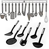 TecTake Set accessoires de cuisine en acier inoxydable 19 pièces ustensiles