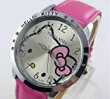 Pink Hello Kitty 6 Crystal Watch Friend Gift Adult size
