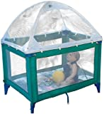 Crib Tents Portable Playard Tent Plus Sunshade, White