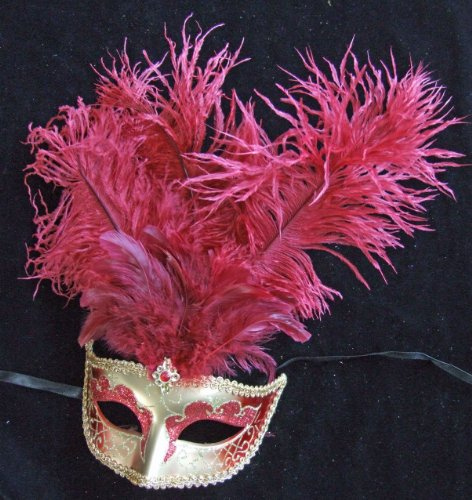 Showgirl Scarlet Halloween Mardi Gras Costume Masquerade New Orleans Prom Party