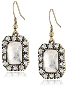 "NINE WEST VINTAGE AMERICA ""Vintage Glamour"" Two-Tone Pave Drop Earrings"