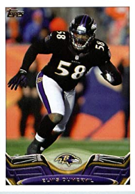 2013 Topps Football Card #377 Elvis Dumervil - Baltimore Ravens - NFL Trading Cards