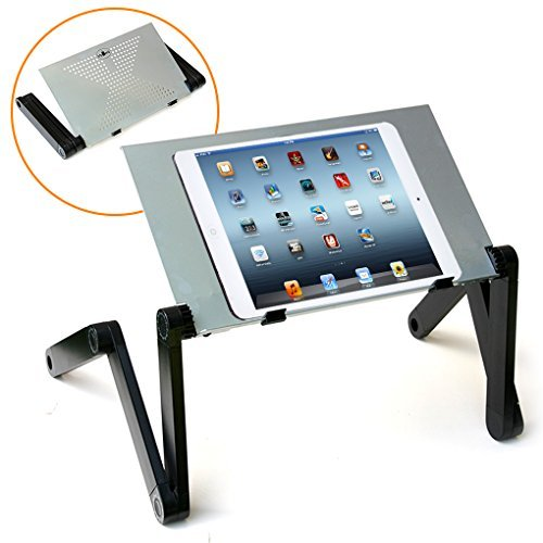 QuickLIFT Tablet Aluminum Alloy Stand for Mounting on Desk / Bed / Couch with Fully Adjustable Height / Angle for Apple iPad Pro / Mini / Air / Air 2 / 1st gen / 2 / 3