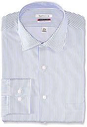 Van Heusen Men\'s Regular Fit Flex Collar Stripe, Ice Blue, 18 34/35