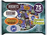 Hershey's Halloween Snack Size Assortment (Hershey's, Reese's & York Peppermint Patties), 75-Piece, 38.27-Ounce Bags (Pack of 2)