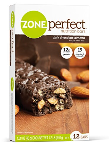 ZonePerfect Nutrition Bars, Dark Chocolate Almond, 1.58 oz, 12 Count (Quick Weight Loss Protein Bars compare prices)
