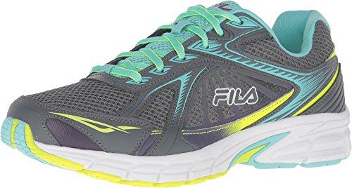Fila Women's Omnispeed Castlerock/Aruba Blue/Safety Yellow Sneaker 9 B (M)