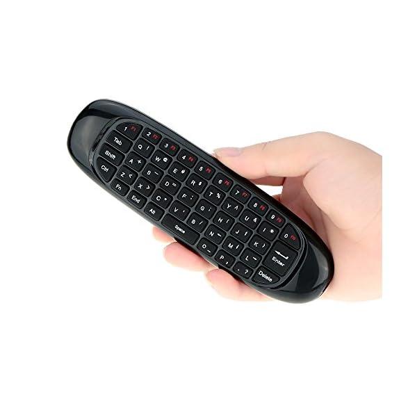 KKmoon-24G-Clavier-sans-fil-Portable-Fly-Air-Mouse-Tlcommande-avec-Micro-pour-Android-TV-Bote-HTPC-PC