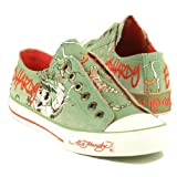 Ed Hardy Womens Lowrise Slip-On,Military,6 M US