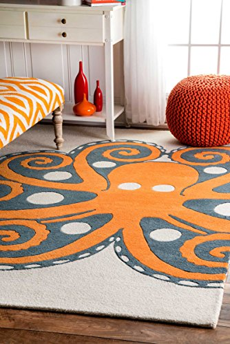 Hand-Tufted-Giant-Octopus-Area-Rugs