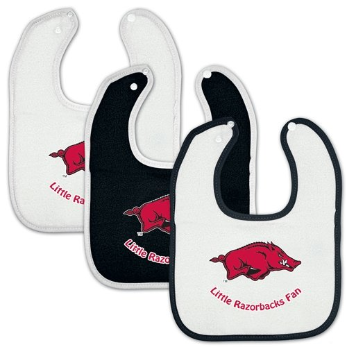 Arkansas Razorbacks Official Ncaa Infant One Size Baby Bib Set By Mcarthur front-729017