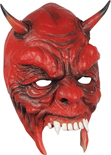 Loftus Halloween Devil Costume Face Mask Red Black One Size